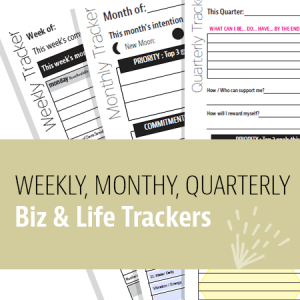 Biz & Life Printables - Weekly, Monthly, Quarterly - Trackers