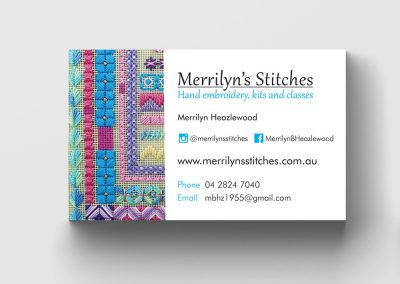 Business Card Design - Merrilyn's Stitches