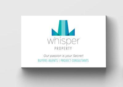 Portfolio - Whisper Property - Business Card & Logo Design