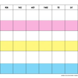 Weekly Work Planner for Families with Teenagers